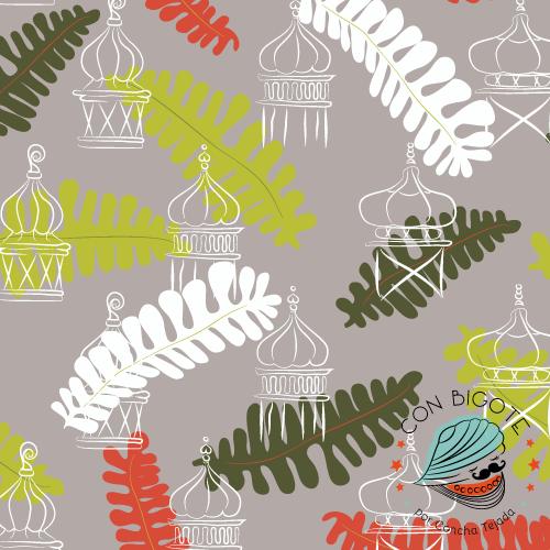 Pattern - Estampado Con Bigote chim-cheree-gris