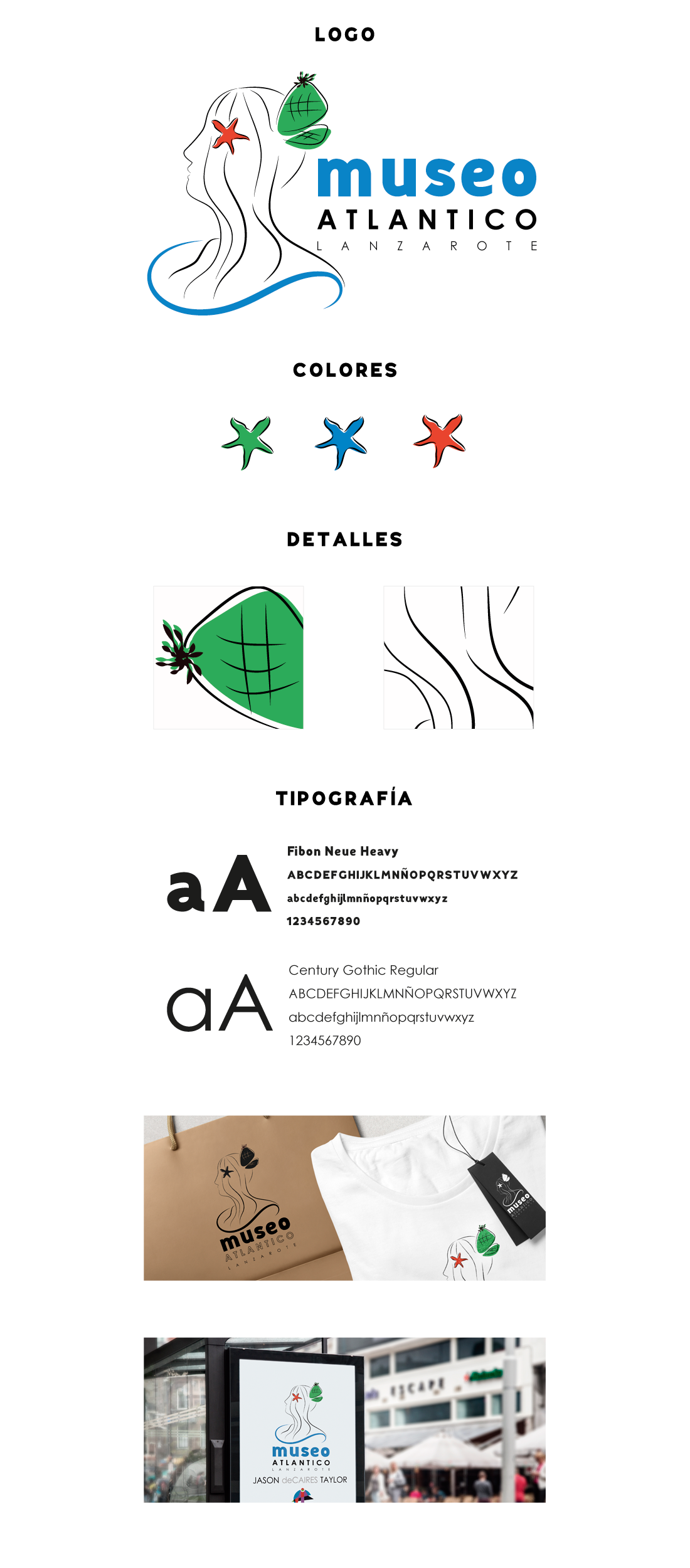 Propuesta presentada para la identidad corporativa del Museo Atlántico de Lanzarote