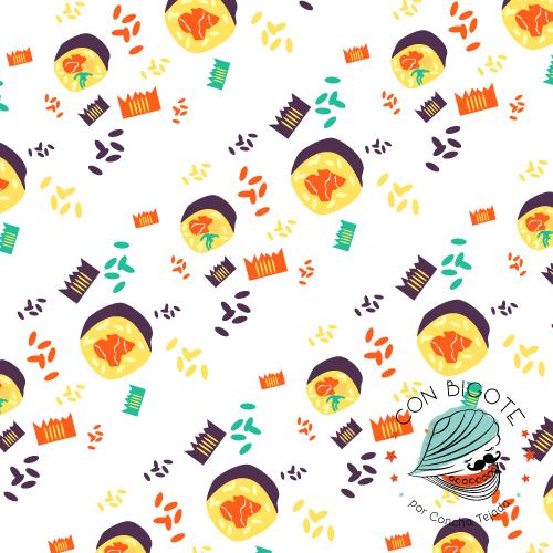 Pattern Estampado Con Bigote Salmon Sushi Rolls