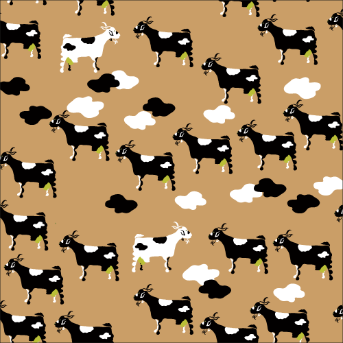 Estampado Pattern Con Bigote Lö cabritas de lanzarote color leche-lech