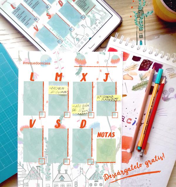 calendario semanal interactivo y para imprimir concha tejada yomequedoencasa