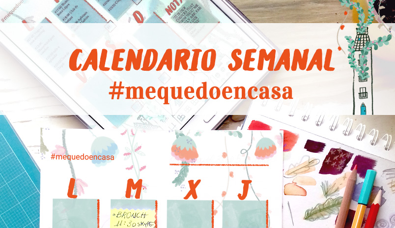 agenda semanal calendario descargable mequedoencasa