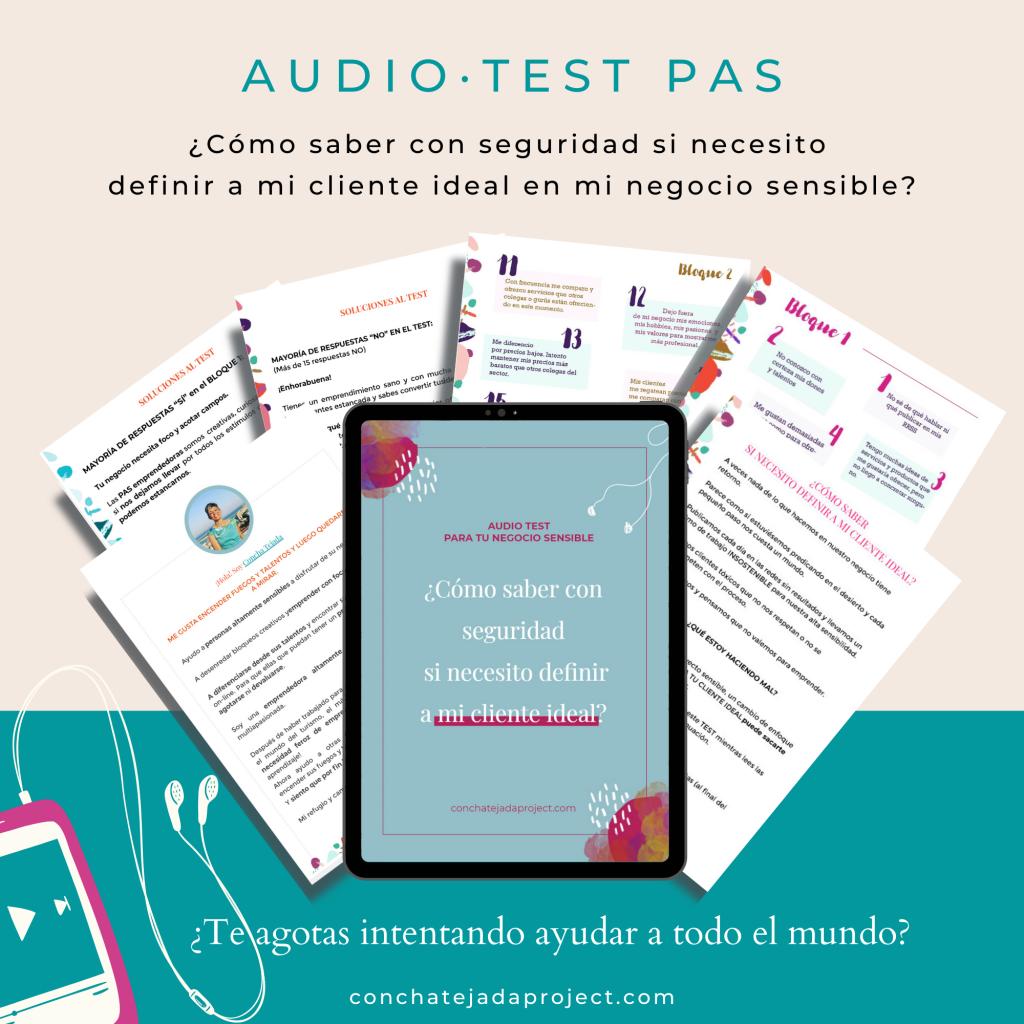 audio test para saber si nececesitas definir cliente ideal